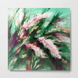 Pampas Grass 1h by Kathy Morton Stanion Metal Print