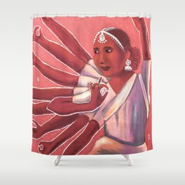 Colorful Bollywood Dancer Shower Curtain
