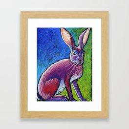 Red Hot Jackrabbit Mama Framed Art Print