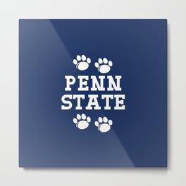 Penn State Nittany Lions Paw Metal Print