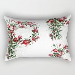 Floral Monogram P Rectangular Pillow