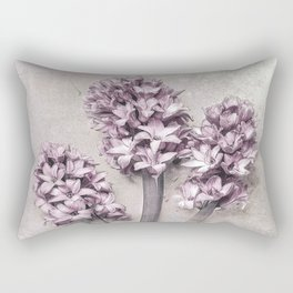Delicate Hyacinths Rectangular Pillow