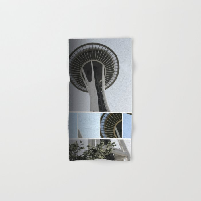 Seattle Space Needle Mosaic Hand & Bath Towel
