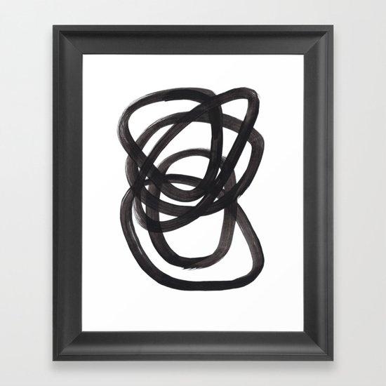 Black And White Minimalist Mid Century Abstract Ink Art Circle Swirls Black Circles Minimal by enshape