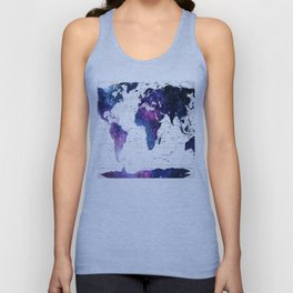 ALLOVER THE WORLD-Galaxy map Unisex Tank Top