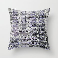 Post-Digital Tendencies Emerge (P/D3 Glitch Collage Studies) Throw Pillow