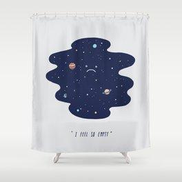 Negative Space Shower Curtain
