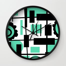 Teal is the new Black Wall Clock