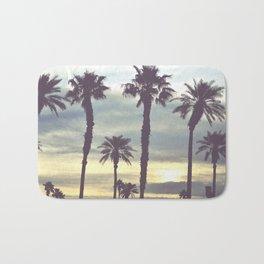 Los Angeles Sunset Palm Trees Bath Mat