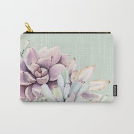 Beautiful Mint Succulents Carry-All Pouch