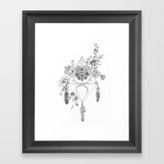 Death's Head Hawk Moth Totem Framed Art Print