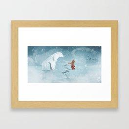 Hooded Stranger Framed Art Print