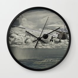 Stormy approach Wall Clock