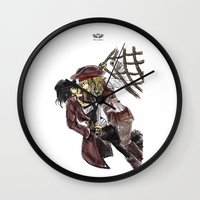 pirates Wall Clocks featuring PIRATES. by Maryne.