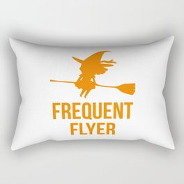 Frequent Flyer Halloween Flying Witch Rectangular Pillow