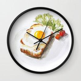 egg toast Wall Clock
