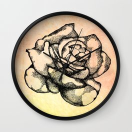 Black Rose Wall Clock