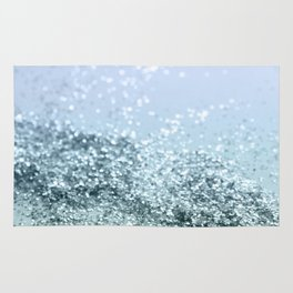 Light Seafoam Light Blue Glitter #1 #shiny #decor #art #society6 Rug