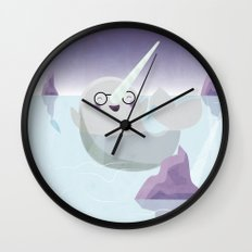 Norman the Near-Sighted Narwhal Wall Clock
