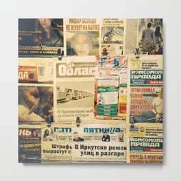 Russian newspapers Metal Print