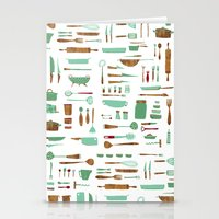 kitchen Stationery Cards featuring Kitchen by Mathilde Ruau