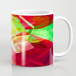 Mixed color Poinsettias 1 Abstract Polygons 1 Coffee Mug