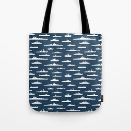 Battleship // Navy Blue Tote Bag