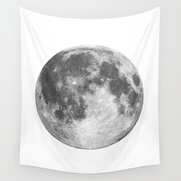 Full Moon phase print black-white monochrome new lunar eclipse poster home bedroom wall decor Wall Tapestry