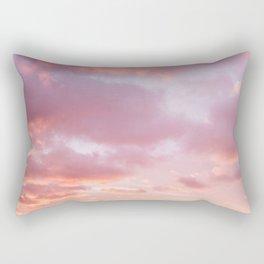 Unicorn Sunset Peach Skyscape Photography Rectangular Pillow