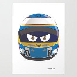 Fernando ALONSO_Helmet 2015 #14 Art Print