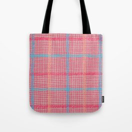 Well Plaid (RED) Tote Bag