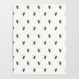 Bumblebee pattern Poster