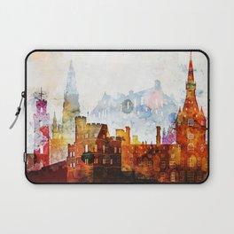 Edinburgh Watercolor Skyline Laptop Sleeve