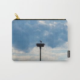 A Stork among the Clouds Carry-All Pouch