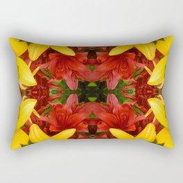 """A Gathering of Lilies"" Remix - 4 (2-1) [D4469~57] Rectangular Pillow"