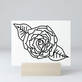 Imperfect Rose Outline Mini Art Print