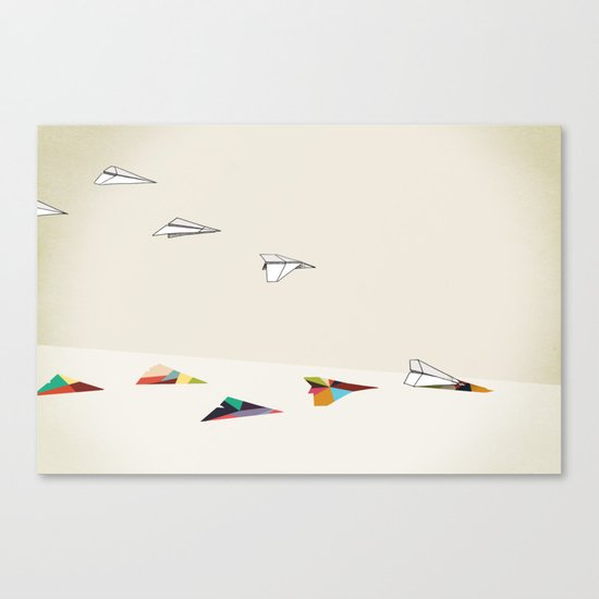Walking Shadow, Paper Planes Canvas Print