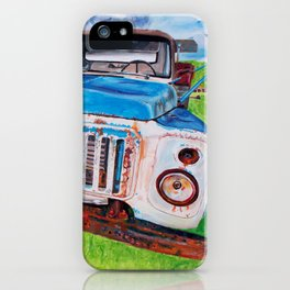 Beat up truck iPhone Case
