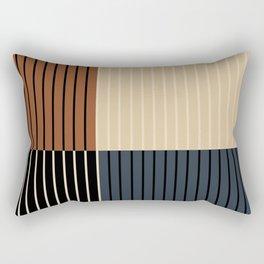Color Block Lines I Rectangular Pillow
