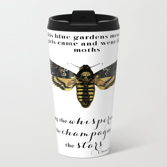 Among the whisperings and the champagne and the stars Metal Travel Mug