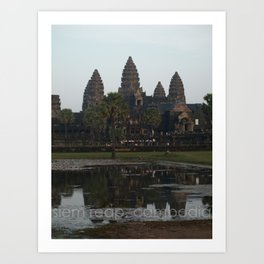siem reap, cambodia Art Print