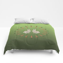 Carrots and Rabbits Comforters