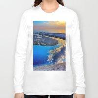 waldo Long Sleeve T-shirts featuring Depth Of Life Quote Ralph Waldo Emerson by JuliaApostolova