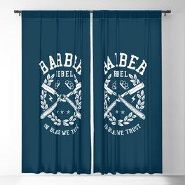 Barber Rebel, barber shop Blackout Curtain