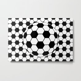 Black and White 3D Ball pattern deign Metal Print