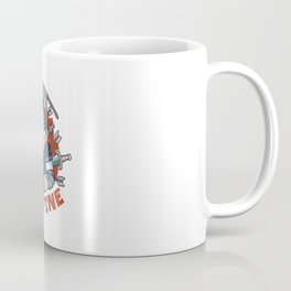 Unicorn stabbed by many weapons and I'm fine Quote Coffee Mug