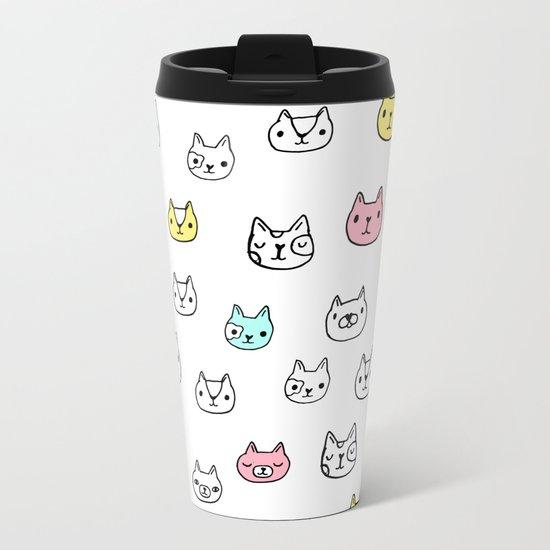 Sketchy Cats Metal Travel Mug