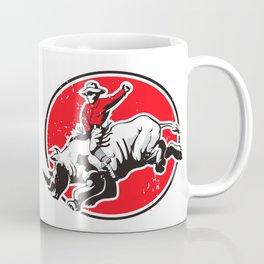 Rodeo Cowboy riding a rhino Coffee Mug