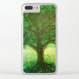 Dreaming of summer Clear iPhone Case