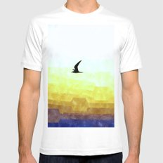 Seagull flight Mens Fitted Tee White MEDIUM